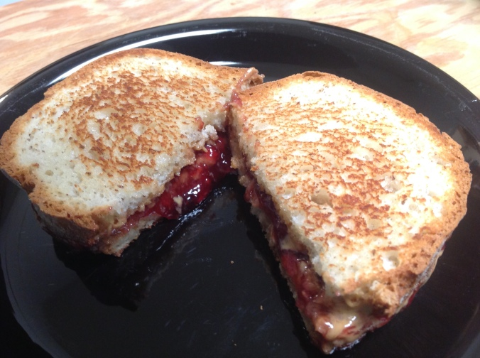 Peanut Butter and Jelly Panini Sandwich