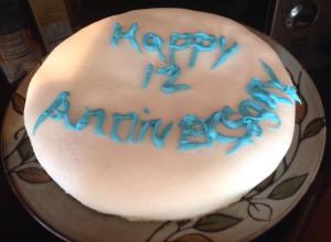 Gluten Free Anniversary Cake